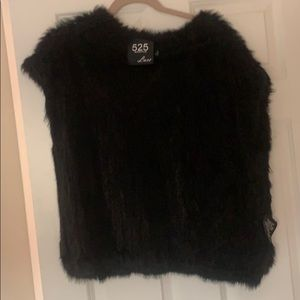 Rabbit fur sweater